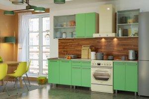 Кухня ЛДСП салатовая Пелагея - Мебельная фабрика «Гермес»