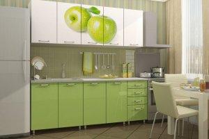 Зеленая кухня с фотопечатью Пихта - Мебельная фабрика «Д.А.Р. Мебель»