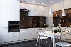 Кухня пластик белая - Мебельная фабрика «Омега»