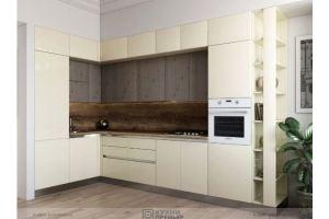 Кухня пластик Оливия Gola - Мебельная фабрика «Кухни Премьер»