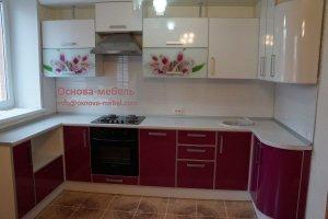 Кухня пластик Орхидея - Мебельная фабрика «Основа-Мебель»
