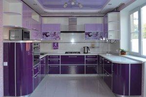 Кухня пластик П-образная - Мебельная фабрика «Омега»