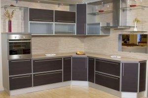 Кухня пластик в алюминиевой рамке - Мебельная фабрика «Элна»