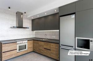 Кухня Пластик в стиле Лофт - Мебельная фабрика «МЭК»