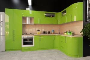 Кухня пластиковая зеленая - Мебельная фабрика «Вертикаль»