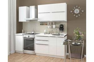 Кухня прямая 160см (фасад пластик глянец) - Мебельная фабрика «Проспект мебели»