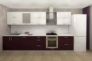 Кухня прямая 3 - Мебельная фабрика «Лама»