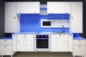 Кухня прямая акрил - Мебельная фабрика «Mirati»