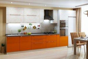 Кухня прямая Арт-шафран - Мебельная фабрика «Гамма-мебель»