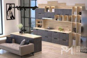 Кухня прямая Арья Mix - Мебельная фабрика «Ревдамебель»