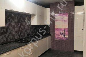 Кухня прямая белая Эмаль - Мебельная фабрика «Корпус»