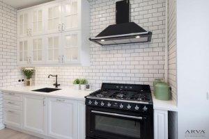 Кухня прямая береза белая - Мебельная фабрика «ARVA»
