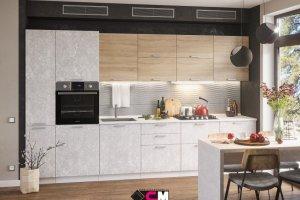 Кухня прямая Бетон - Мебельная фабрика «Стендмебель»