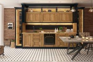 Кухня прямая Честер - Мебельная фабрика «Линда»