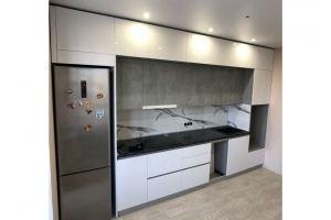 Кухня прямая двухуровневая МДФ - Мебельная фабрика «Алмаз-мебель»