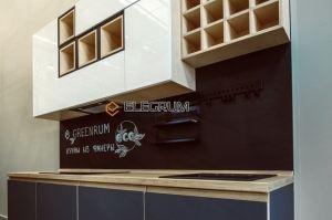 Кухня прямая Fenix + фанера - Мебельная фабрика «ELEGRUM»