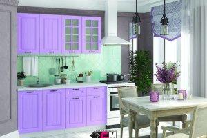 Кухня прямая фиолетовая Мария - Мебельная фабрика «Стендмебель»