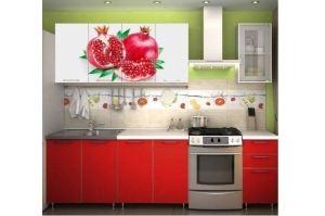Кухня прямая Фотопечать лак 2 - Мебельная фабрика «РиИКМ»