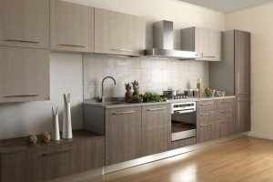 Кухня прямая Гестия шпон - Мебельная фабрика «MipoLine»