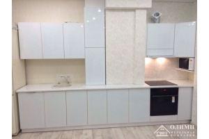 Кухня прямая глянец Мирра 04 - Мебельная фабрика «ОЛИМП»
