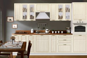 Кухня прямая Гурман 2 - Мебельная фабрика «Мебель-Маркет»