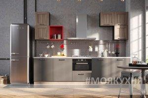Кухня прямая ИНДАСТРИАЛ - Мебельная фабрика «Моя кухня»