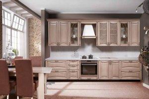 Кухня прямая из дуба Валенсия - Мебельная фабрика «Вилейская мебельная фабрика»