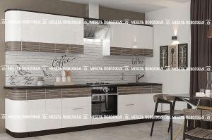 Кухня прямая Капучино МДФ - Мебельная фабрика «Мебель Поволжья»