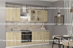 Кухня прямая Квартет ЛДСП - Мебельная фабрика «Мебель Поволжья»