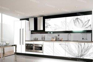 Кухня прямая лаковая - Мебельная фабрика «Самеко»