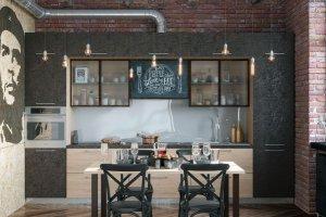 Кухня прямая Лофт - Мебельная фабрика «Энли»