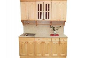 Кухня прямая массив - Мебельная фабрика «Упоровская мебельная фабрика»