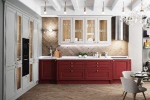 Кухня прямая массив Borgo 2 - Мебельная фабрика «Мария»