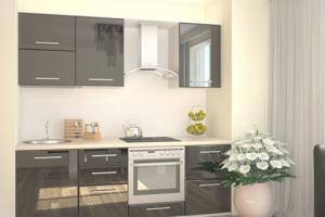 Кухня прямая МДФ эмаль глянец - Мебельная фабрика «Эдельвейс»