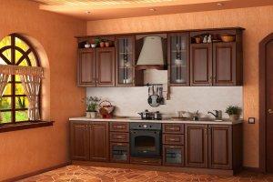 Кухня прямая МДФ в плёнке - Мебельная фабрика «Омега»