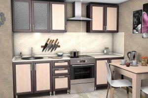 Кухня прямая Мираж 2,0 - Мебельная фабрика «Средневолжская мебельная фабрика»