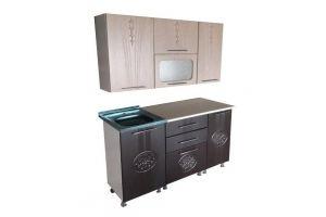 Кухня прямая Оля 1,5 МДФ - Мебельная фабрика «Мебельный Арсенал»