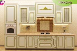 Кухня прямая премиум Николь - Мебельная фабрика «Акварель»