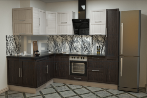 Кухня прямая Provance Proekt 10 - Мебельная фабрика «ITF Mebel»