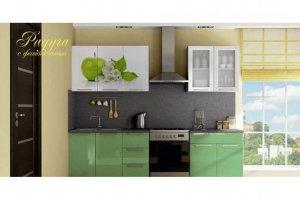 Кухня прямая Радуга с фотопечатью   - Мебельная фабрика «МИГ»