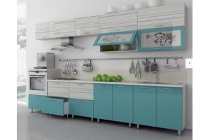 Кухня прямая Риф Люкс - Мебельная фабрика «СОНиК»