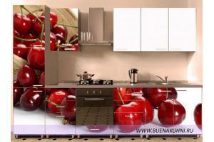 Кухня прямая с фотопечатью - Мебельная фабрика «Buena»