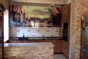 Кухня прямая с фотопечатью - Мебельная фабрика «ДОН-Мебель»