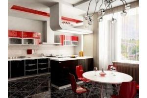 Кухня прямая с островом 0001 - Мебельная фабрика «La Ko Sta»