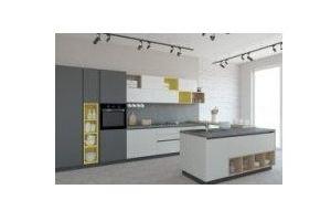 Кухня прямая с островом - Мебельная фабрика «Акварель»