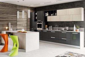 Кухня прямая с островом Калерия - Мебельная фабрика «LEVANTEMEBEL»