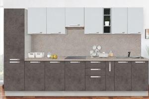 Кухня прямая серая Классика 3500 - Мебельная фабрика «Боровичи-Мебель»