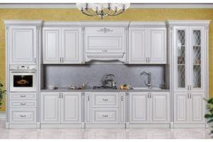 Кухня прямая серебро Аманта - Мебельная фабрика «Северо-Кавказская фабрика мебели»