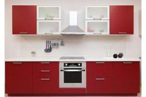 Кухня прямая Симпл бордо - Мебельная фабрика «Хомма»