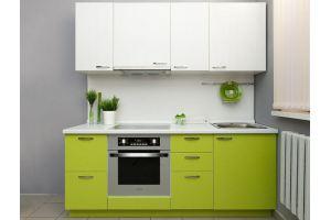 Кухня прямая Симпл лайм - Мебельная фабрика «Хомма»